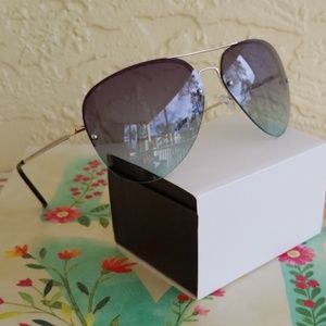 Accessories - 2019 TWO TONE  LENS AVIATOR STYLE  SUNGLASSES